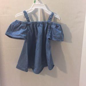 Cute little jean top for little girls